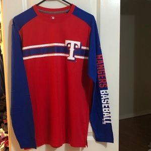 Men's Texas Rangers Long-Sleeve T-Shirt